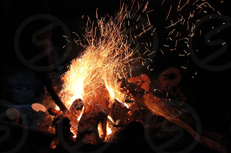 Campfire camping fire photo