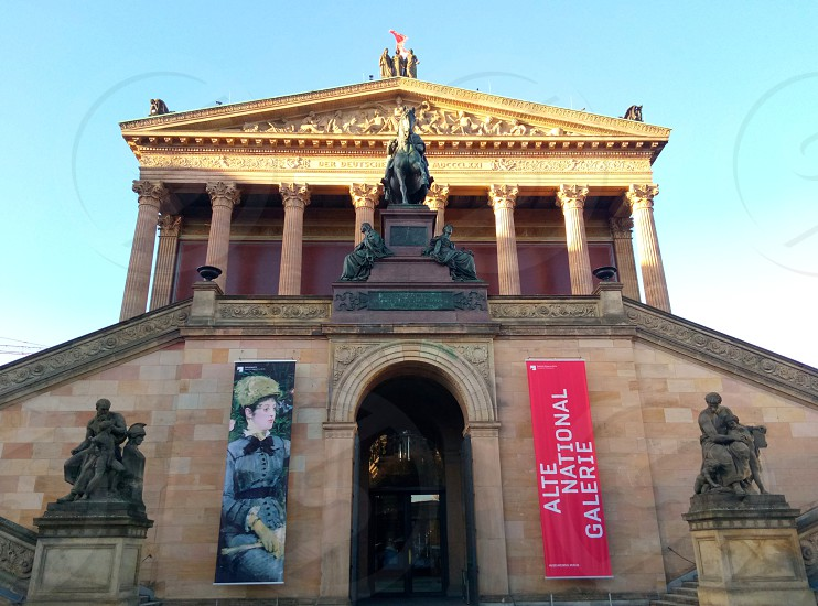 Alte National Galerie tower at daytime photo