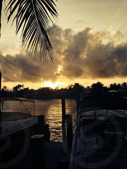 Miami sunset photo