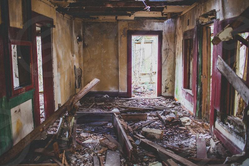 inside of abandoned house photo