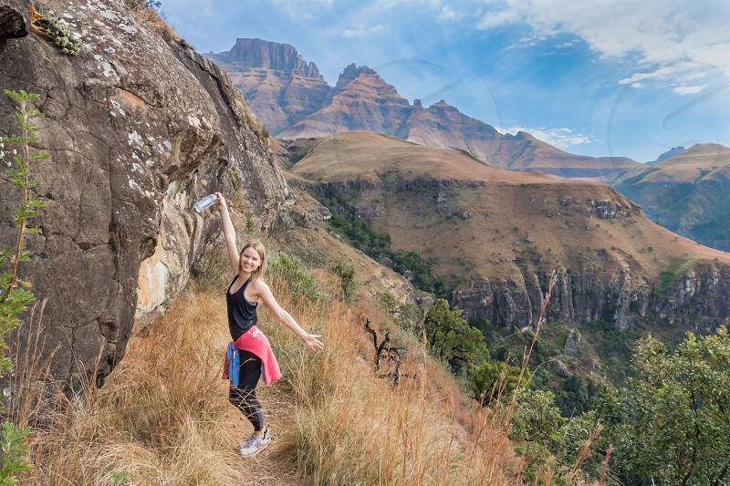 Drakensberg mountain range Royal Natal National Park photo