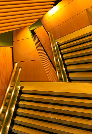 architecture clean lines stairs photo