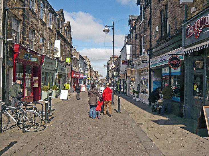 UK. ENGLAND. LANCASTER.  Penny Street one of the main shopping streets. photo