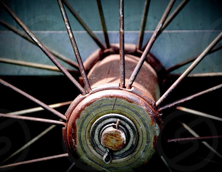 brass bike spoke photo
