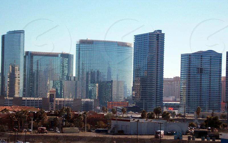 City Center reflections on Las Vegas Strip photo