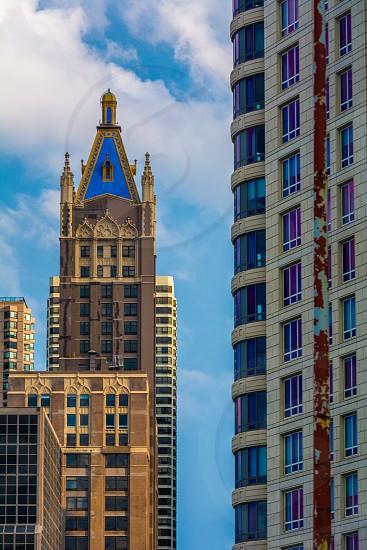 Chicago city cityscape color photo