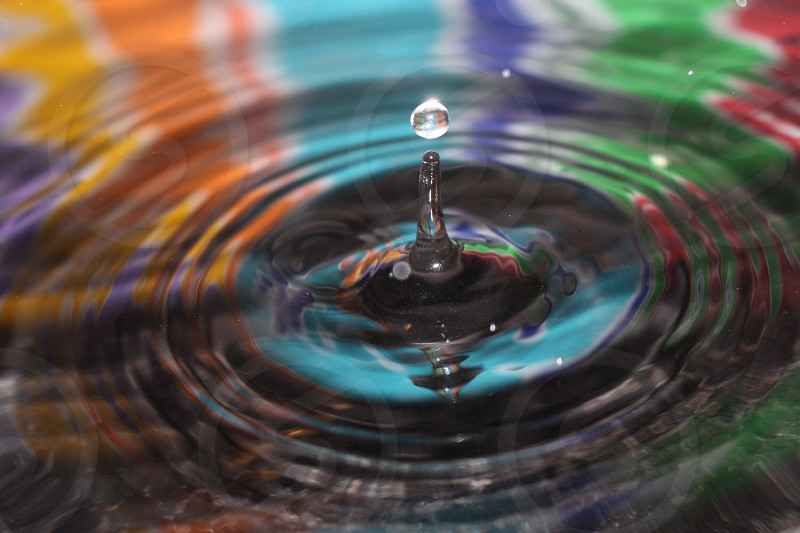 time lapsed photography of water drop photo