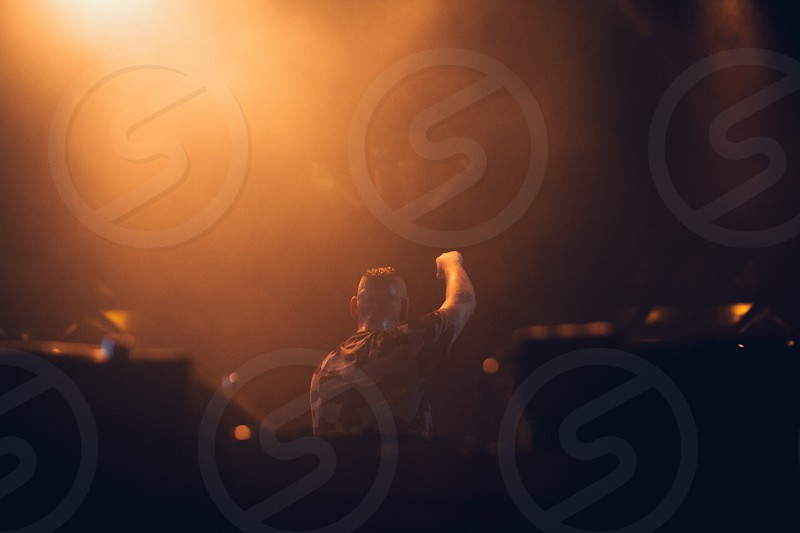 A moment from concert of slovak rapper Separ. photo