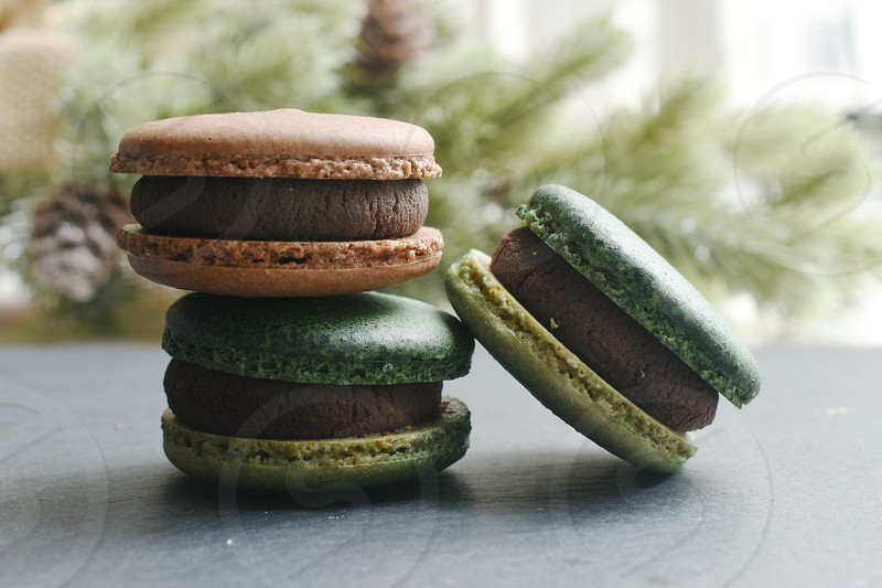 Macarons cookies  photo