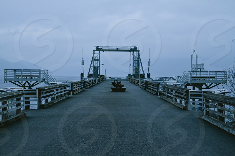 white bridge wooden pier photo