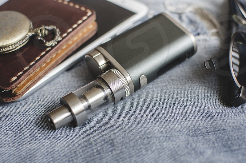 Advanced personal vaporizer or e-cigarette close up photo