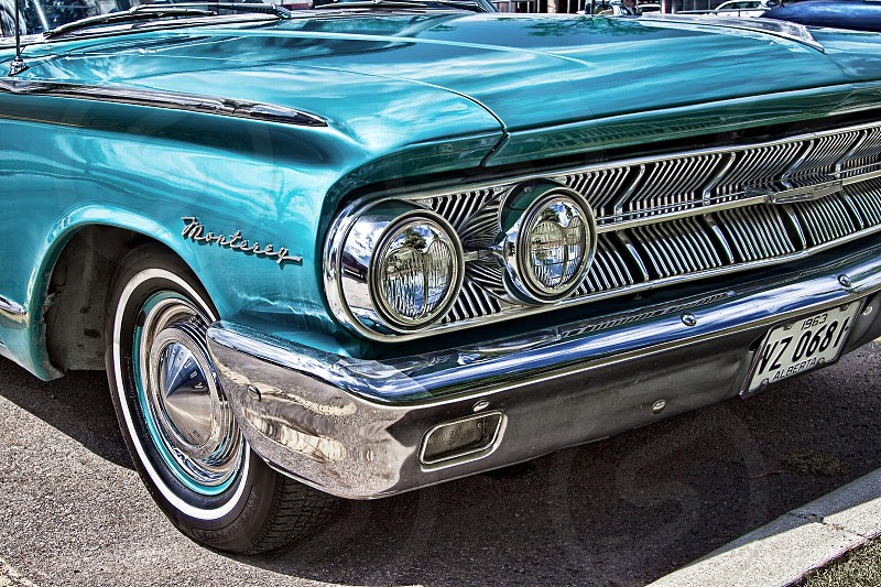 teal monterey classic car photo