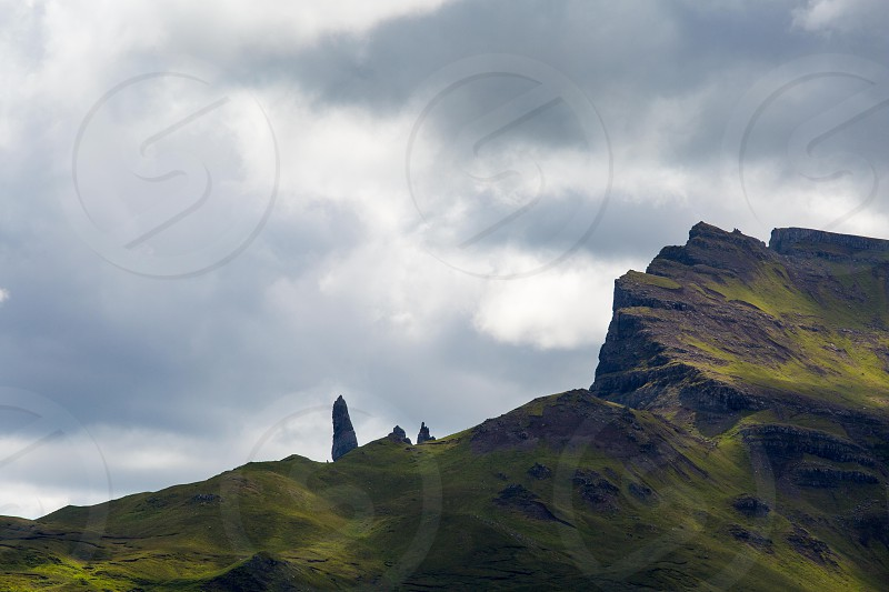 The Old Man of Storr on the Isle of Skye in Scotland. photo