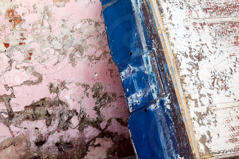 detail boat against wall venice italy texture abstract patina  photo