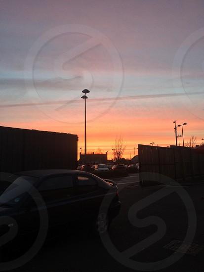 Sunset over Gretna Scotland photo