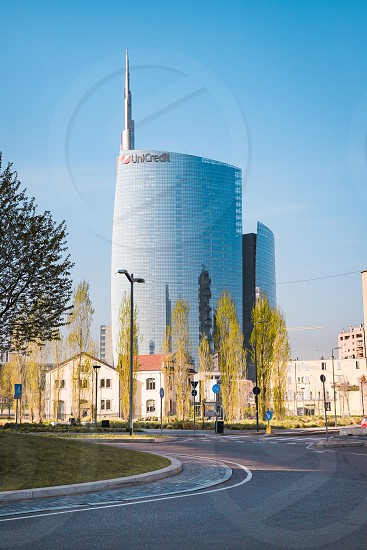 Urban landscape in the center of Milan photo