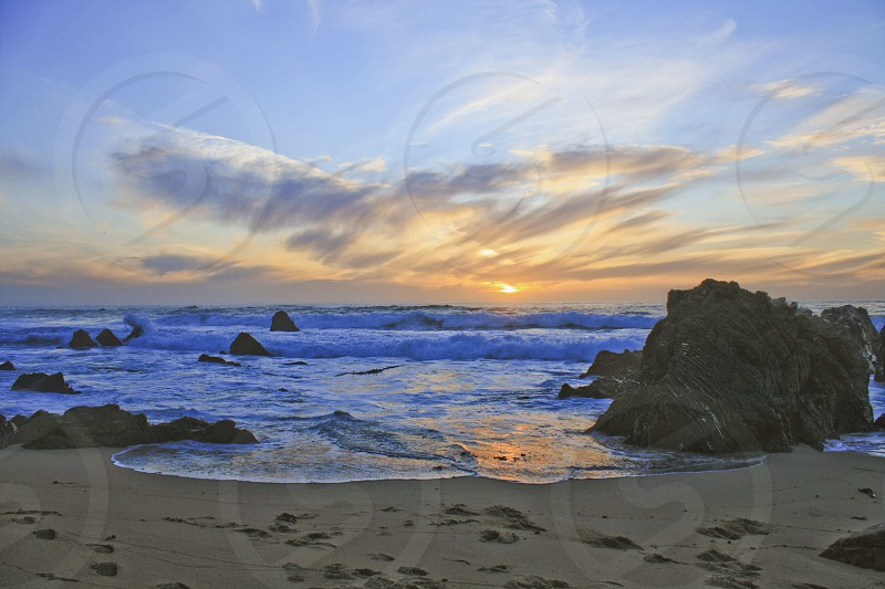 Beautiful beach scene photo