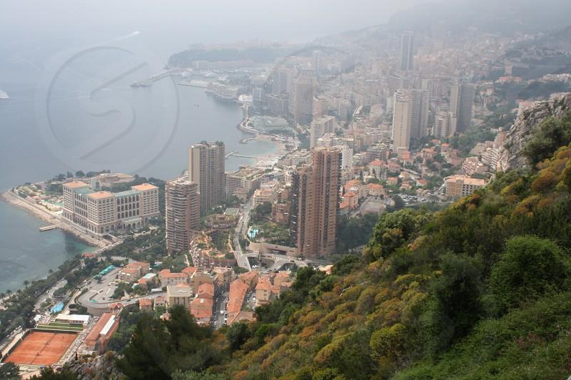 Monaco France mist cityscape photo