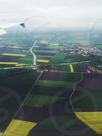 Green. Germany Europe. Fields. Farming. Flying.  photo