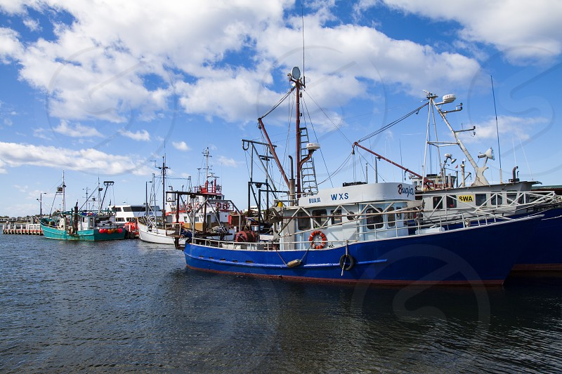 The fishing port of Lakes Entrance in the Gippsland region of Victoria Australia. photo