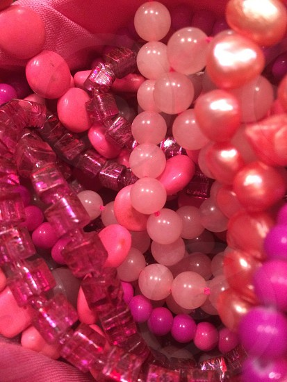 Pink beading frenzy photo