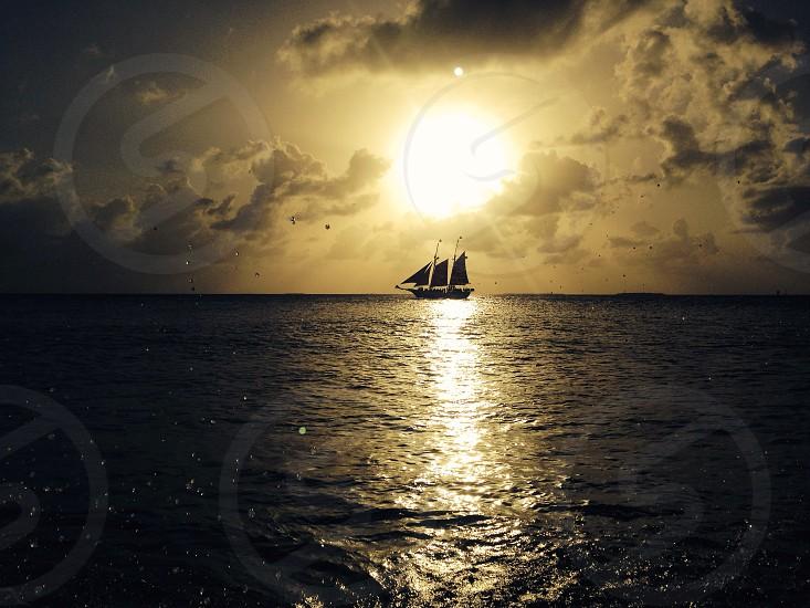 Beautiful sunset on Key West photo