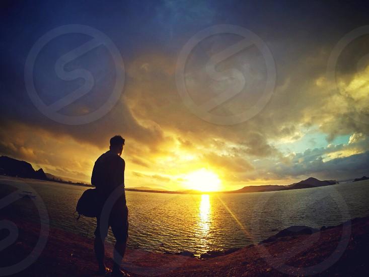 Sunset at lombok - Indonesia photo
