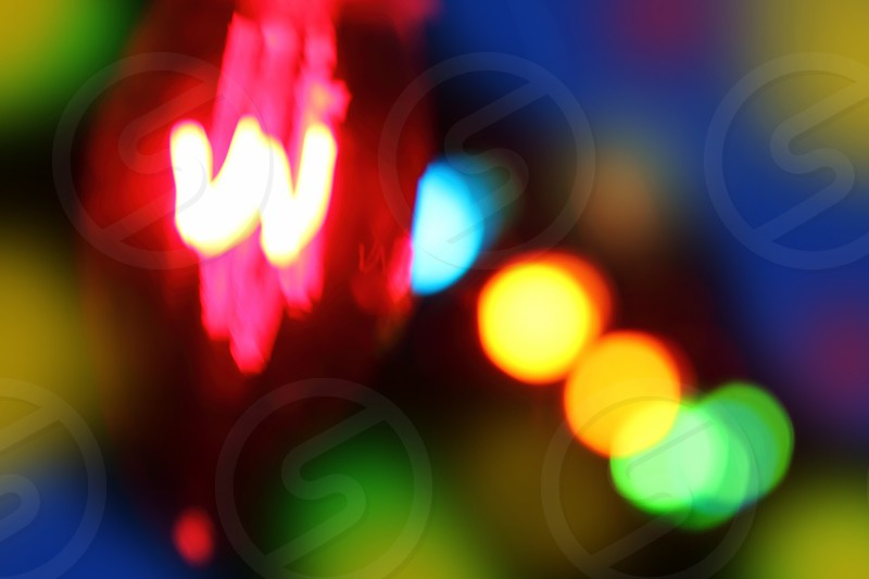 abstract blurred glowing colorful lights background photo