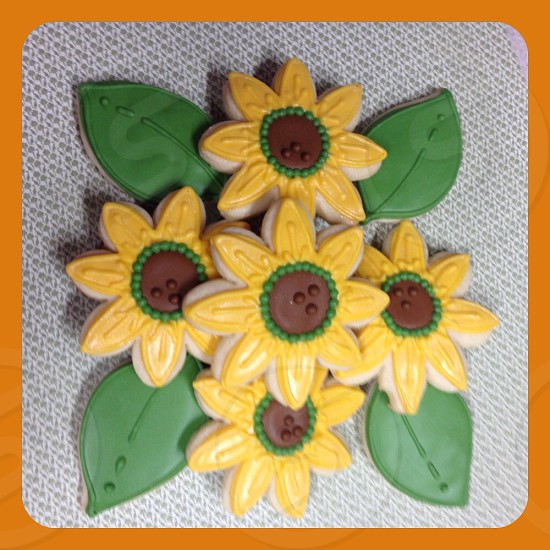 Fall flower cookies.  photo