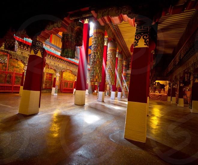 Interior Potala Palace Tibet China photo