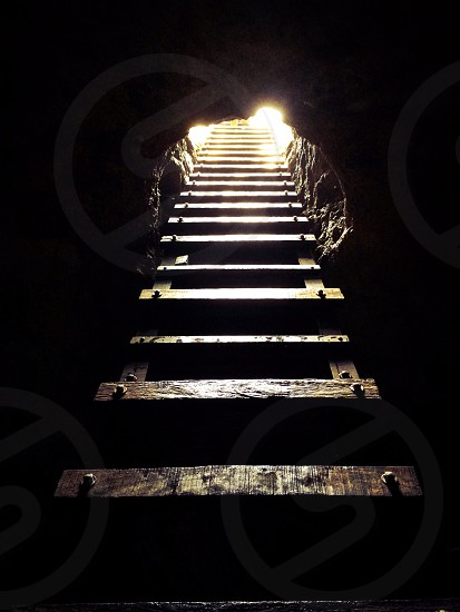 Ladder cenote exit photo
