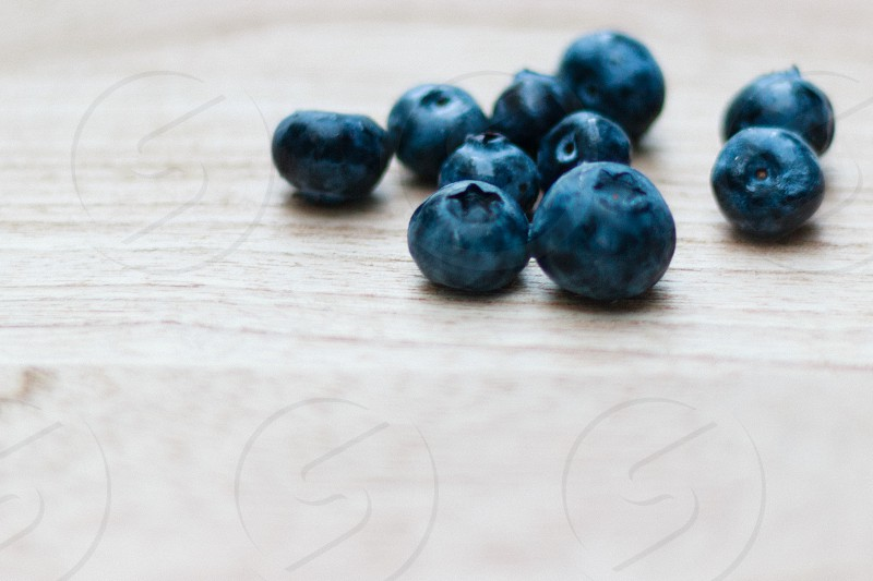 blueberries on wood  photo