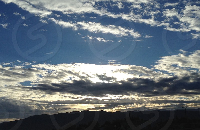 Sky sunrise nature landscape  photo