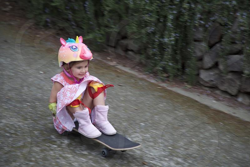 Girl skateboard  photo