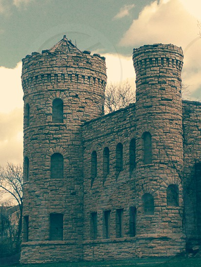 An abandoned urban castle built in 1897. photo
