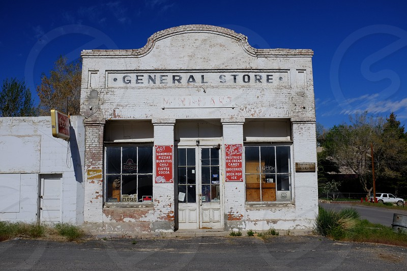 general store deserted desert highway 50 nevada photo