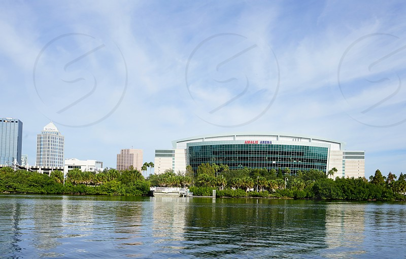 Amalie Arena in Tampa FL from across channel.  photo