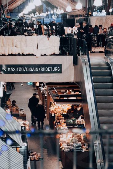 market estonia winter photo