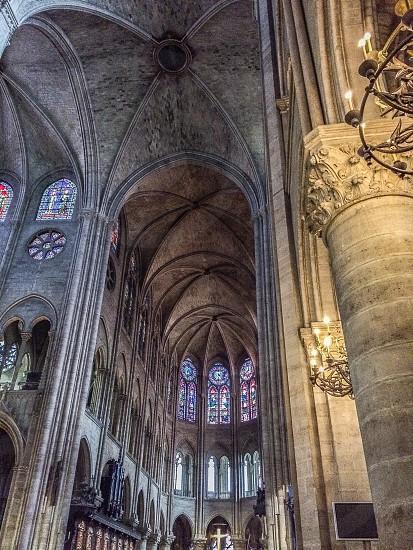 Notre Dame Paris inside gothic photo