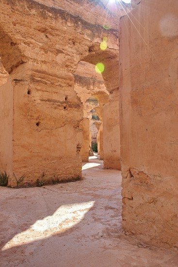 Ruins and arches in Meknes Morocco photo