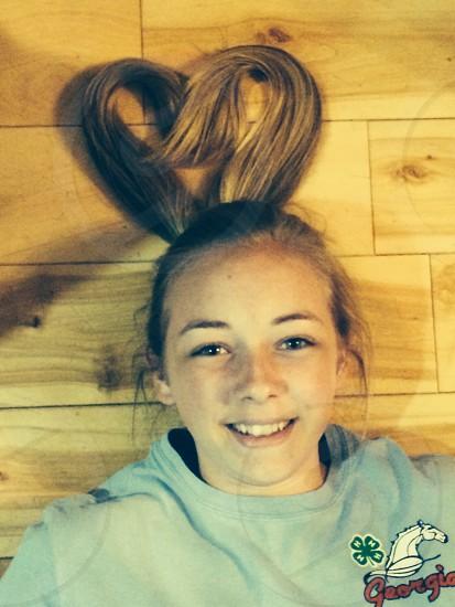 """Love"" her hair photo"