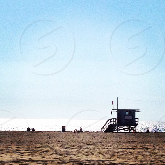 Venice beach and lifeguard station photo