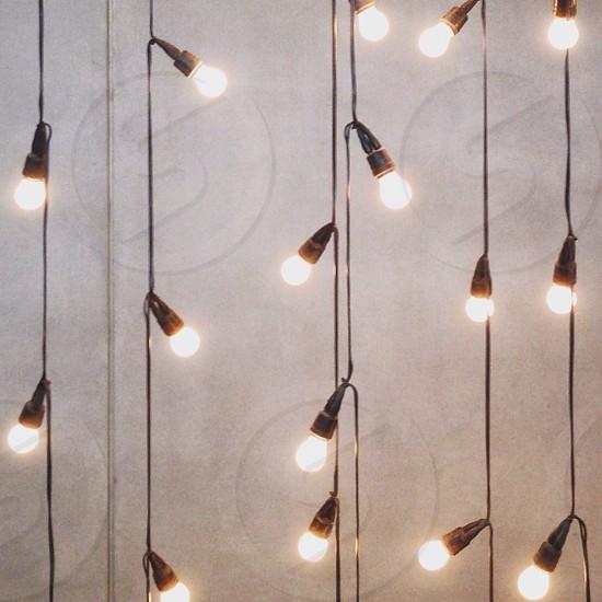 Textures hanging lights light bulbs photo