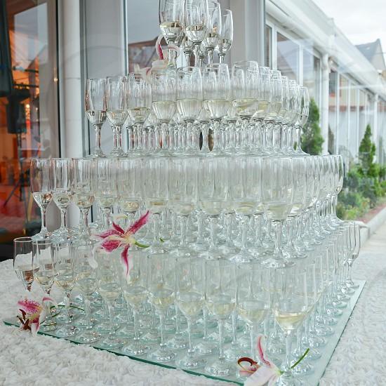 wedding champagne glasses photo
