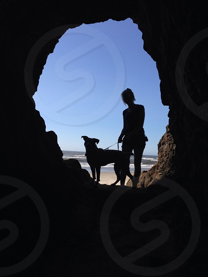 Cave shot in Oceanside OR. photo