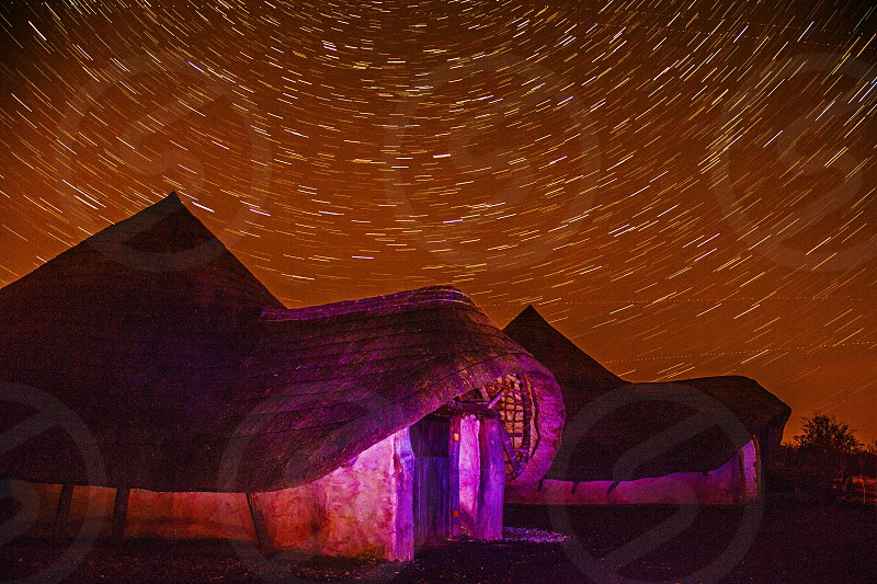 Ancient Dwelling @ Night photo