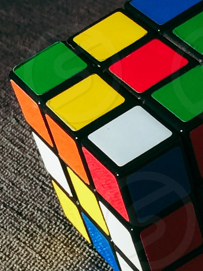 Magic cube closeup photo