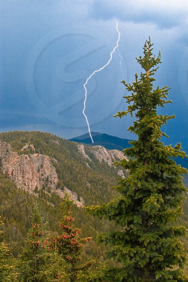 storm lightning electrical mount evans colorado weather dangerous usa mountains peaks bolt zap trees dynamic photo