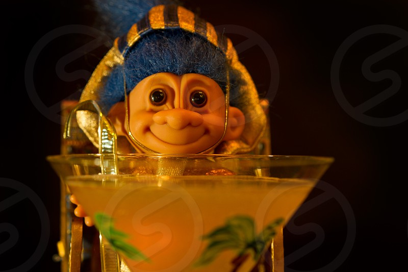 Troll doll at happy hour photo