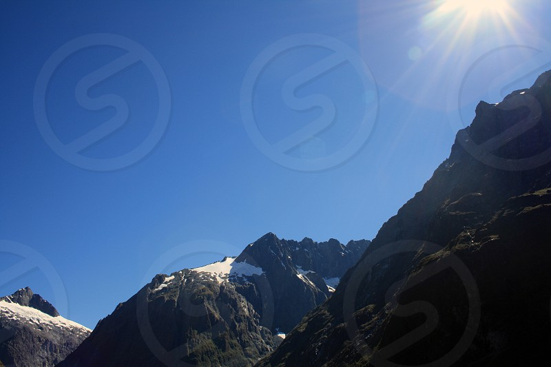 mountain range view photograph  photo